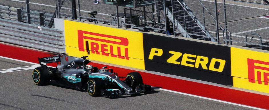 Hamilton trece primul linia de sosire in Texas. Mercedes devine campioana la constructori