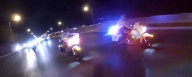 Harley-urile de politie americane nu pot face fata motoarelor sport