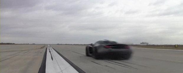 Hennessey Venom GT accelereaza de la 0 la 370 km/h in 20 de secunde. VIDEO AICI!