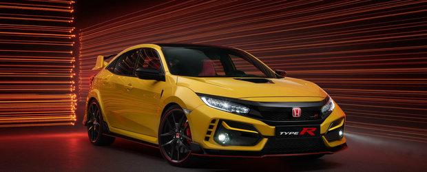 """Honda lanseaza o versiune noua pentru Civic Type R. """"Vrem sa fie cel mai dinamic hot hatch FWD de pe piata"""""""