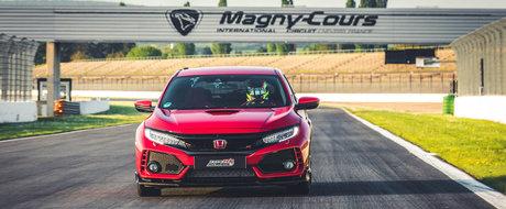 Honda nu se mai satura de recorduri. Civic Type R este cea mai rapida masina cu tractiune fata de pe Magny-Cours