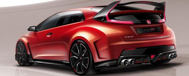 Honda publica o noua imagine a viitorului Civic Type R