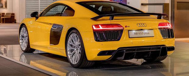 HOT: Noul Audi R8 V10 Plus pozeaza in culoarea Vegas Yellow