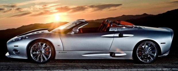 HOT: Noul Spyker C8 Aileron Spyder pozeaza topless. Din nou!
