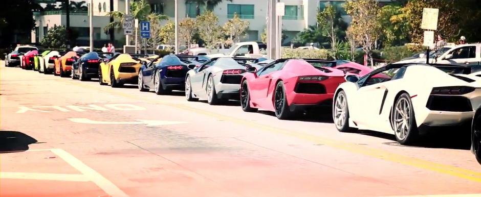 HOT: Parada de Lamborghini-uri pe strazile din Miami. VIDEO AICI!