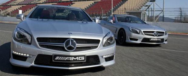 HOT: Primele imagini oficiale cu noul Mercedes SL63 AMG