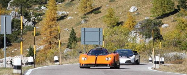 HOT: Urmarire intre Pagani Zonda Cinque si Lamborghini Murcielago LP640 de politie!