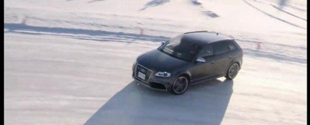 Hot Video: Audi RS3 Sportback ne serveste o portie serioasa de drifturi pe zapada!