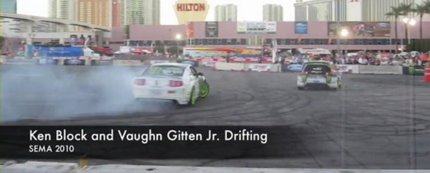 Hot Video: Ken Block si Vaughn Gittin Jr., drifturi in tandem la SEMA Show 2010!