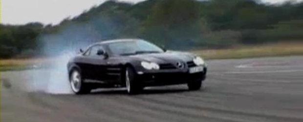 HOT VIDEO: Mercedes SLR distruge un set de pneuri pe pista Top Gear