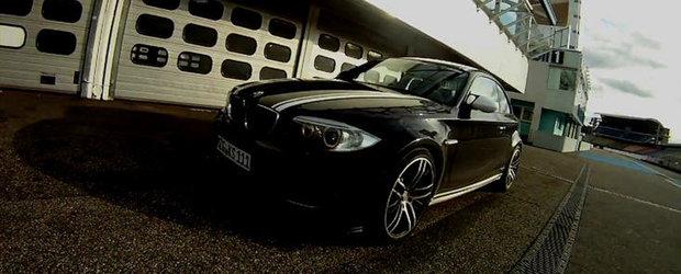 HOT VIDEO: Noul BMW 1M Coupe accelereaza pana la 309 km/h, ne ofera o portie modesta de drifturi