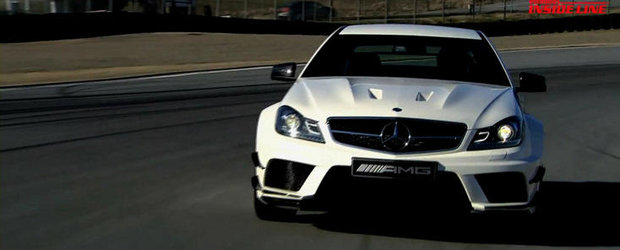 HOT VIDEO: Noul Mercedes C63 AMG Coupe Black Series debarca la Laguna Seca!