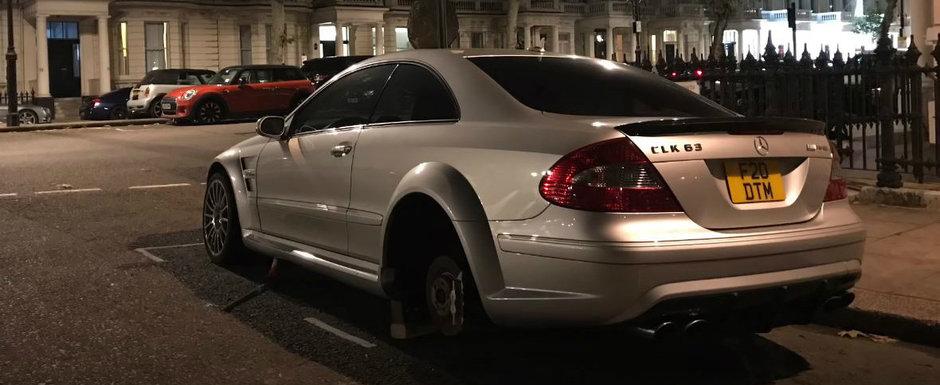 Hotii i-au lasat CLK-ul Black Series pe caramizi. Exista numai 500 de masini in toata lumea