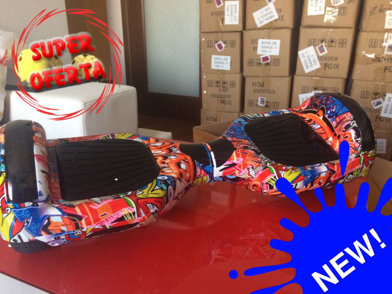 Hoverboard Bluetooth + Leduri (Garantie 12luni in RO)-OFERTA VERII