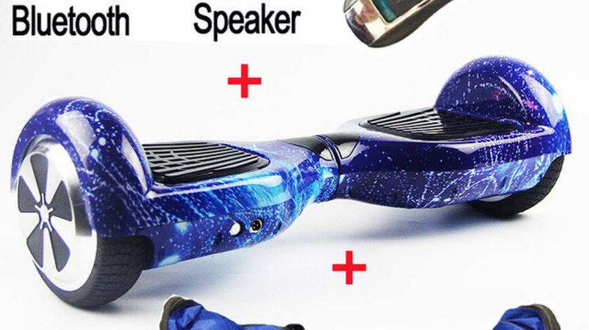 Hoverboard Carton Leither 1000w LED-uri Bluetooth TELECOMANDA-GEANTA