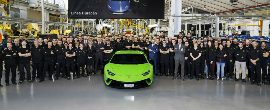Huracanul cu numarul 10.000 si-a turat pentru prima data motorul. Lamborghini planuieste deja  noua generatie