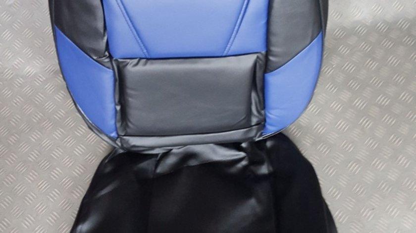 Husa auto imitatie de piele de culoare albastru cu negru
