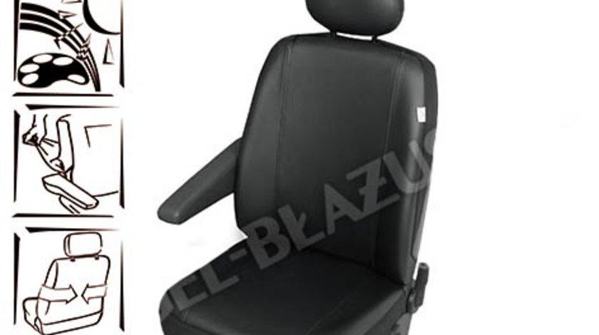 Husa auto scaun sofer microbuz imitatie piele DV1 L pentru Citroen Jumpy Fiat Scudo Ford Transit Mercedes Vito Opel Vivaro Kft Auto