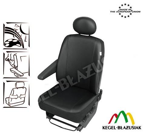 Husa auto scaun sofer microbuz imitatie piele pentru Citroen Jumper Fiat Ducato Iveco Daily Mercedes Sprinter Opel Movano Peugeot Boxer Renault Master VW Crafter LT T4 T5 Kft Auto
