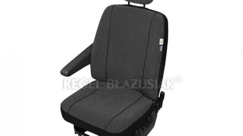 Husa auto scaun sofer microbuz Scotland compatibila cu scaune cu Airbag DV1 L pentru Citroen Jumpy Fiat Scudo Ford Transit Mercedes Vito Opel Vivaro Kft Auto