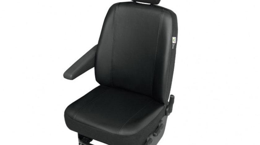 Husa auto scaun sofer Practical DV1 Master imitatie piele neagra pentru Renault Master 3, Opel Movano 3, Nissan NV 400 , dupa 2010 Kft Auto