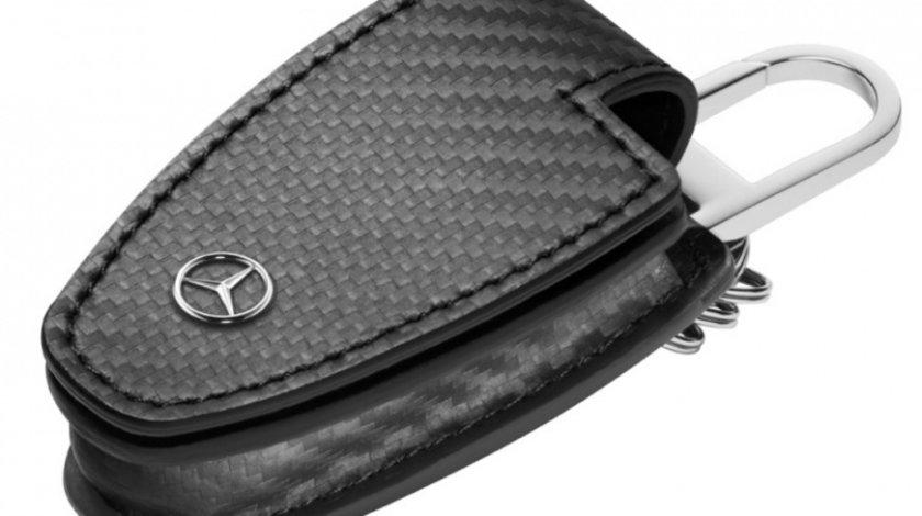 Husa Cheie Breloc Oe Mercedes-Benz Generatia 5 Piele Carbon B66958407