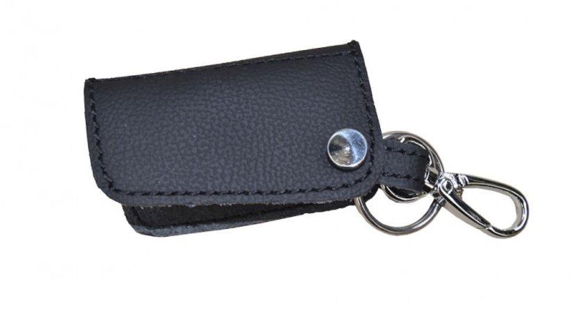 Husa cheie din piele pentru Mercedes Clasa A, Clasa C, Clasa S, Clasa GL, cusatura neagra, pentru cheie cu 4 butoane