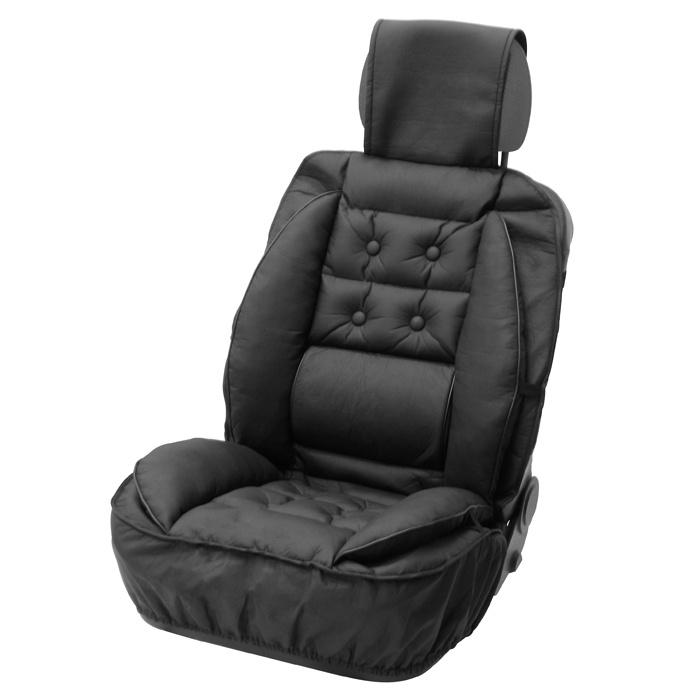 Husa scaun auto Carpoint cu suport lombar pentru scaunele din fata , 1 buc.