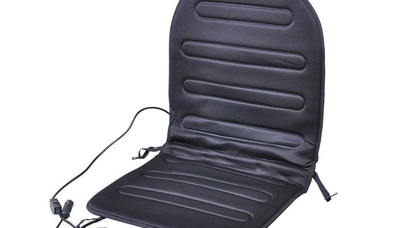 Husa Scaun Auto cu Incalzire si Comutator Automax, 12V, 2 Trepte, Negru