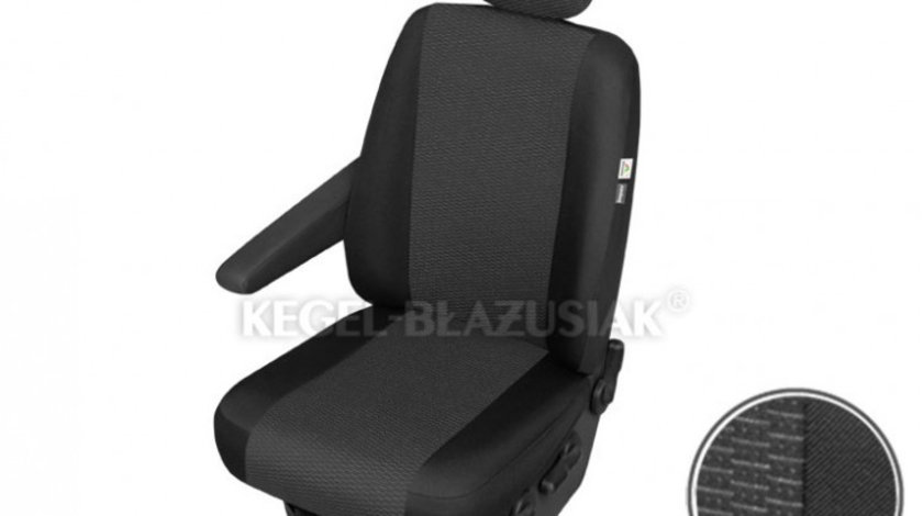 Husa scaun auto sofer Ares Trafic pentru Citroen Jumpy, Fiat Scudo, Ford Transit, Mercedes Vito, Opel Vivaro, Vw T6, pentru cotiera dreapta Kft Auto