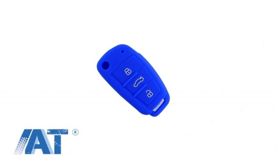Husa Silicon Cheie compatibil cu AUDI - Albastru