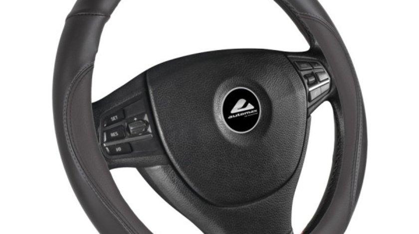 Husa volan de culoare neagra , diametru 37-39cm, material cauciucat, marca Automax