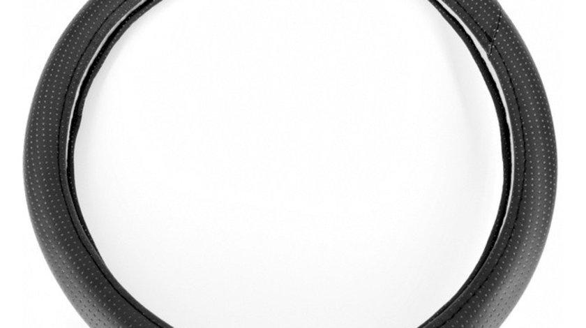 Husa volan imitatie piele 5012 marime M 37-39cm , neagra ; ARM-3791