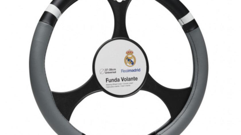 Husa volan negru-gri Real Madrid 37-39cmm PVC Kft Auto