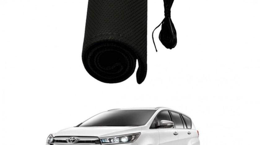Husa Volan Toyota Piele Perforata Ac si Ata neagra