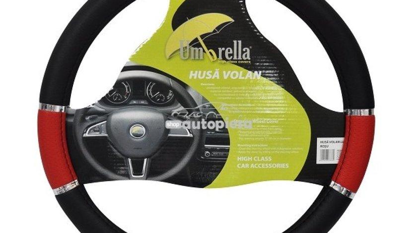 Husa volan universala model LUX gri / albastru / negru / rosu UMBRELLA 07833 piesa NOUA
