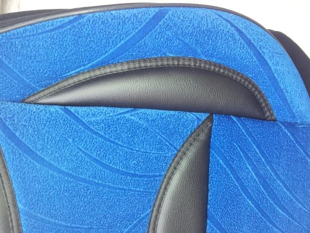 Huse auto albastre din material plusat set complet