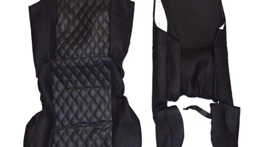 Huse scaun CAMION universale din doua piese material ROMB [CLONE] VistaCar