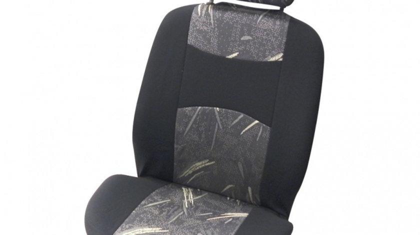 Huse scaune auto Classic , set huse Fata 4 piese , Negru/ Gri