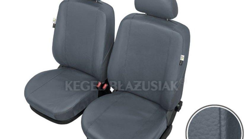 Huse scaune auto Practical M-Size Super AirBag - Fata set huse auto imitatie piele culoare Gri marca Kegel Kft Auto