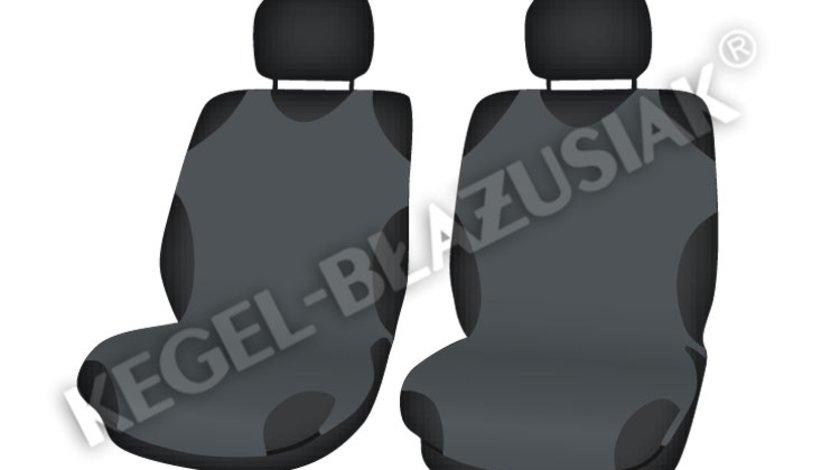 Huse scaune auto tip maieu fata de culoare Gri, 2 bucati