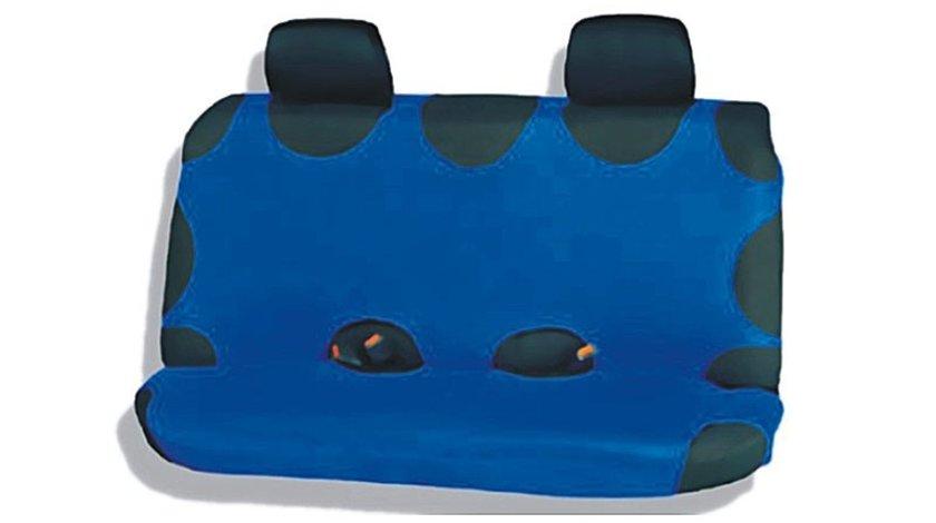 Huse scaune auto tip maieu spate Albastru , pentru bancheta spate