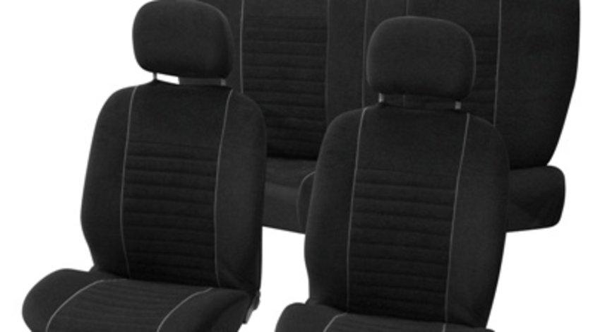 Huse scaune auto Value gri cu negru , 9 buc.
