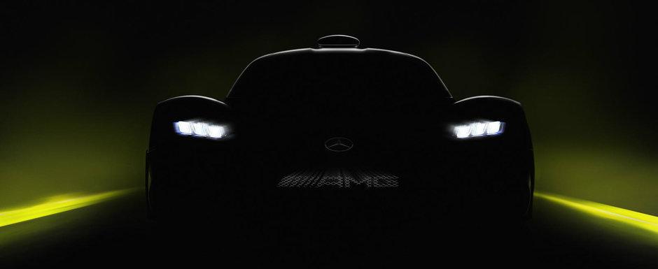 Hypercar-ul de la Mercedes cu motor de F1 apare intr-un nou teaser. Viteza maxima va depasi 350 km/h
