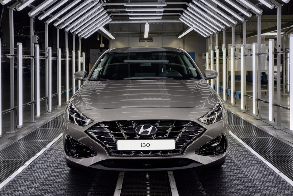 Hyundai i30 Facelift - Imagini din fabrica