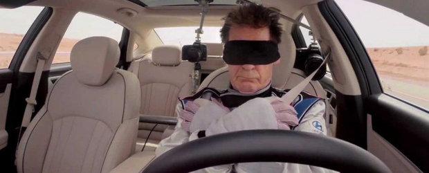 Hyundai ne arata masina care poate fi condusa fara maini si legat la ochi