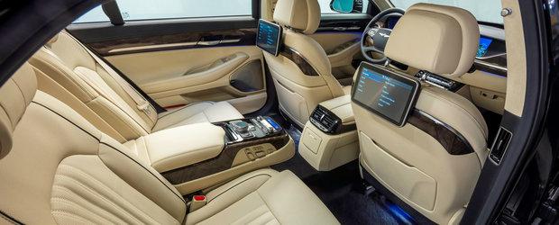 Hyundai pune tunurile pe S-Class. Cum arata Genesis G90, cea mai luxoasa masina a sud-coreenilor
