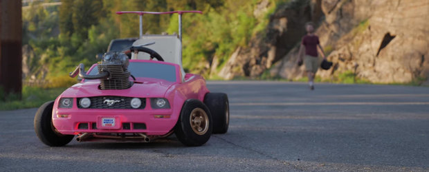 I-a furat masina lui Barbie si i-a pus motor adevarat, iar acum distractia e criminala!