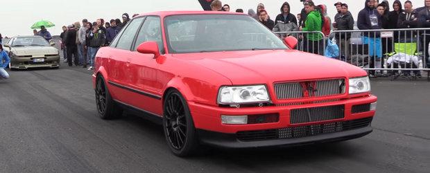 I-a lasat masca pe toti. Audi-ul asta are 930 de cai sub capota si atinge 290 de km/h in doar 800 de metri