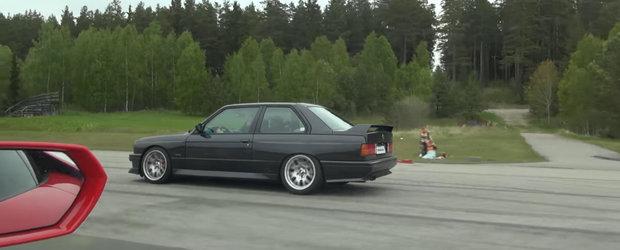 I-a lasat masca pe toti. Huracan-ul de sute de mii de euro a pierdut in fata unui...BMW M3 E30